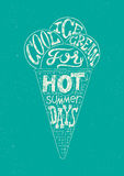 Vintage ice cream grunge style poster. Retro typography label design. Vector illustration. Stock Images