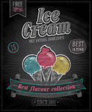 Vintage Ice Cream Poster - Chalkboard. Royalty Free Stock Photo
