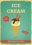Vintage ice cream poster design Stock Photo