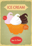Vintage ice cream poster  design Stock Images