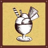Vintage ice cream sign logo Stock Photos