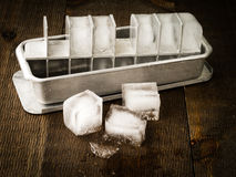 Vintage Ice Cube Tray Royalty Free Stock Photos