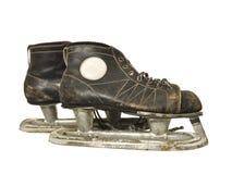 Vintage ice skates. Isolated on white background Royalty Free Stock Photography