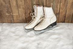 Vintage ice skates Royalty Free Stock Image