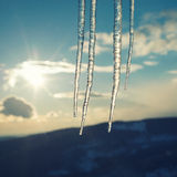 Vintage icicles Stock Image