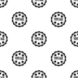 Vintage icon in black style isolated on white background. Label pattern stock vector illustration. Royalty Free Stock Images