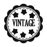 Vintage icon in black style isolated on white background. Label symbol stock vector illustration. Stock Photos