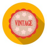 Vintage icon in flat style  on white background. Label symbol stock vector illustration. Royalty Free Stock Photography