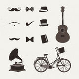 Vintage icon vectors Stock Image