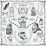 Vintage icons and design elements Royalty Free Stock Photo