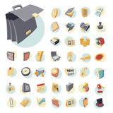 Vintage icons set for business. And finance. Vector illustration Stock Photography