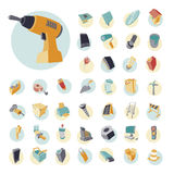 Vintage icons set for industrial Royalty Free Stock Photos