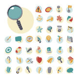 Vintage icons set for user interface Stock Images