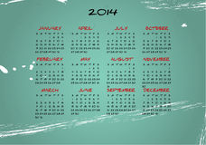 2014 vintage. Illustration of 2014 calendar with vintage background Royalty Free Stock Image