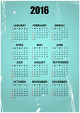 2016 vintage. Illustration of 2016 calendar with vintage background Stock Illustration