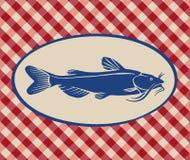 Vintage illustration of catfish Royalty Free Stock Images