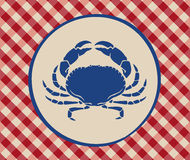 Vintage illustration of crab Stock Photo