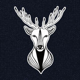 Vintage illustration with deer head Stock Photo