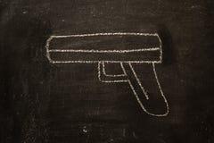 Vintage illustration gun,violence Royalty Free Stock Photos