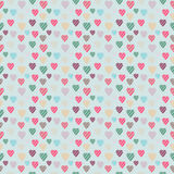 Vintage Illustration of Heart. Seamless texture Royalty Free Stock Images