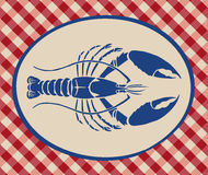 Vintage illustration of lobster Royalty Free Stock Photography