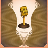 Vintage illustration with microphone. Royalty Free Stock Photos