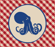 Vintage illustration of octopus Royalty Free Stock Photo