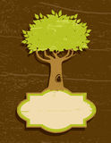 Vintage Illustration Of The Tree Royalty Free Stock Image