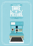 Vintage illustration of an retro camera Royalty Free Stock Image