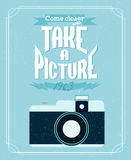 Vintage illustration of an retro camera Stock Photography
