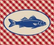 Vintage illustration of sea bass Stock Image