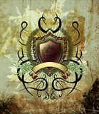 Vintage illustration with tattoo elements Royalty Free Stock Photography