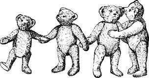 Vintage Illustration teddy bears toy Royalty Free Stock Photography