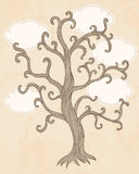 Vintage illustration of a tree Stock Photography
