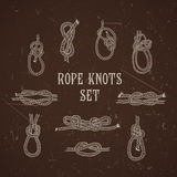 Vintage illustrations of nautical rope knots collection Royalty Free Stock Image