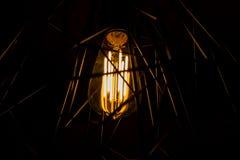 Vintage iluminado no fundo escuro Imagens de Stock