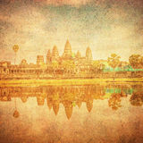 Vintage image of Angkor Wat, Cambodia Stock Photos