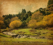 Vintage image of  autumn landscape. Royalty Free Stock Photos