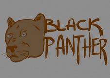 Black panther vintage Royalty Free Stock Image