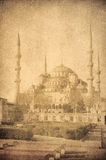 Vintage image of Blue Mosque, Istambul Royalty Free Stock Image