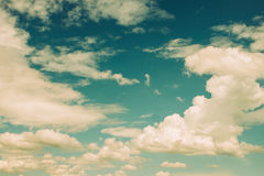 Vintage image of blue sky Royalty Free Stock Image