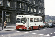 Vintage image of bus in Edinburgh Royalty Free Stock Image