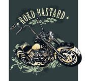 Vintage image of chopper motorcycle Royalty Free Stock Photos