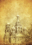Vintage image of Church of the Savior on Blood, Saint Petersburg Royalty Free Stock Photography