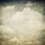 Vintage image of cloudy sky royalty free stock photo