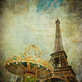 Vintage image of Eiffel tower, Paris Royalty Free Stock Photography