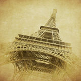 Vintage image of Eiffel tower, Paris, France Stock Photography