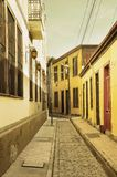 Vintage image of the empty street of Valparaiso. Stock Images
