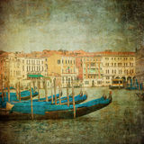 Vintage image of Grand Canal, Venice Royalty Free Stock Images