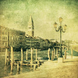 Vintage image of Grand Canal, Venice Royalty Free Stock Photo